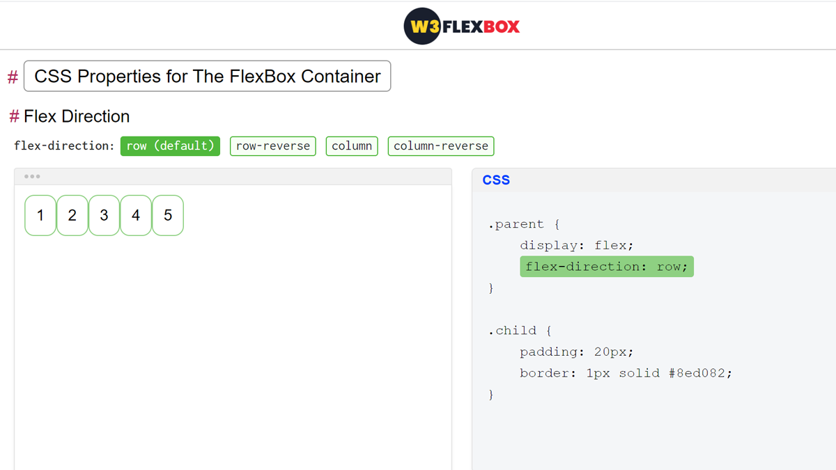 CSS3 FlexBox Container Properties Tutorial with Example